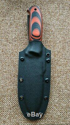 G. Dedyukhin fixed hunting knife Bugbear M390 Handmade in Bark River Style