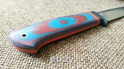 G. Dedyukhin fixed hunting knife Fisherman 2 M390 Handmade in Bark River Style