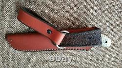 G. Dedyukhin fixed hunting knife Pers M390 Handmade in Bark River Style