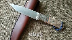 G. Dedyukhin fixed hunting knife Raden M390 Handmade in Bark River Style