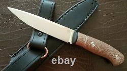 G. Dedyukhin fixed hunting knife Scandinaur M390 Handmade in Bark River Style