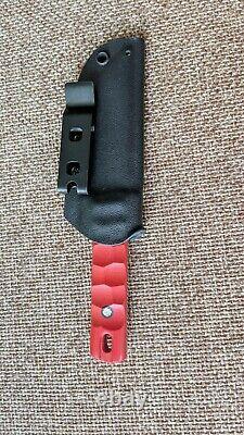 G. Dedyukhin fixed hunting knife Tanto EDS M390 Handmade in Bark River Style