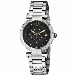 Gevril Women's 1500.7 Berletta Swrovski Crystal Case with Push Pull Crown Watch