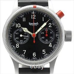 HANHART Single Push Chronograph 704.0101. H0 Manual Men's Watch