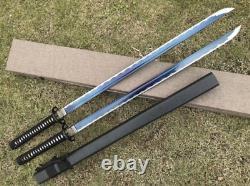 High Quality Japanese Ninja Samurai Katana Sword Very Sharp Blue High Manganese