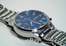 Hugo Boss Aeroliner Blue Dial Stainless Steel Chrono Quartz Men's Watch 1513183