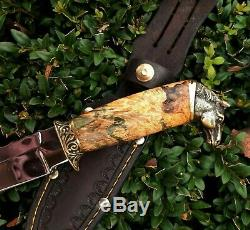 Hunting knife Survival Tactical fixed blade leather sheath # 18 Horse