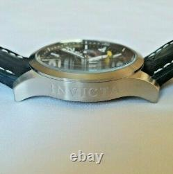 Invicta 22873 Disney Ltd Ed Men's 48mm Mickey Mouse Stainless Leather D/D Watch