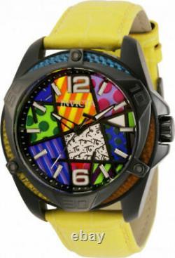 Invicta Mens 43MM Britto Muti Color Dial 5 Interchangeable Leather Strap Watch