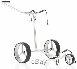JuCad Edition Manual Golf Push Cart withCarry Bag Stainless Steel Trolley