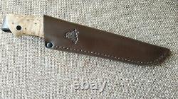Kmet fixed hunting knife CPM-3V Karelian birch Handmade in Bark River stle
