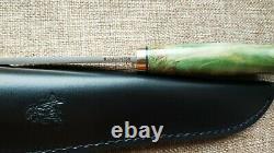 Kmet fixed hunting knife N690 Karelian birch Handmade in Bark River stle