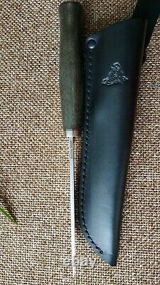 Kmet fixed hunting knife N690 micarta Handmade in Bark River stle