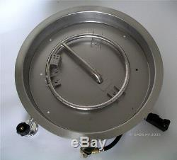 LP STAINLESS S FIRE PIT BURNER RING PAN SYSTEM Drop In Pan Push Buttton Ignition