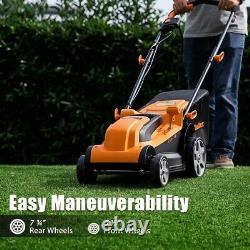 LawnMaster Electric Corded Lawn Mower Push Walk Behind Backyard Garden Grass