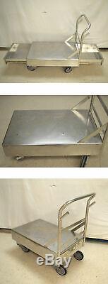Lynndale Stainless Steel 2-Drawer Push Platform Utiliy Cart Flat-Bed Lab Medical