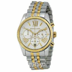 MICHAEL KORS Lexington Chronograph Mother of Pearl Two Tone Ladies Watch MK5955