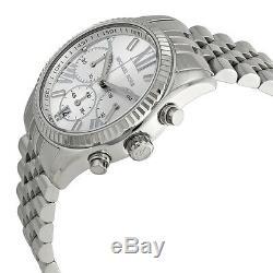 MICHAEL KORS Lexington Silver Chronograph Stainless Steel Ladies Watch MK5555