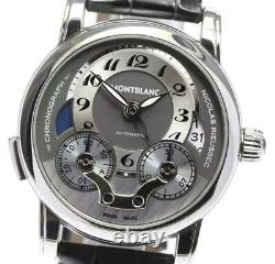 MONTBLANC Nicolas Rieussec 7138 One push chrono Silver Dial Auto Men's 575696