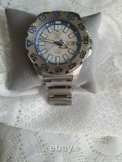 Men/s Seiko 5 Sports Ice/snow Monster Watch. Srp481k1. With Tags And Case. Mint