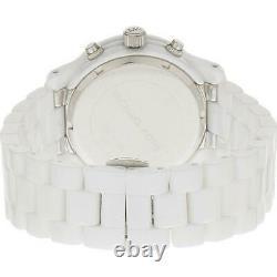 Michael Kors 38mm Runway White Dial Ceramic Chronograph Women's Watch MK5188