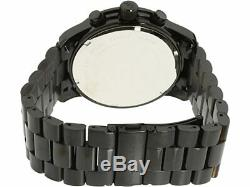 Michael Kors Blacked out Runway Chronograph Black Steel Men's Watch MK8157