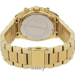 Michael Kors Blair Runway Glitz Gold Plated Ladies 38mm Case Women Watch MK5166