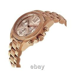 Michael Kors Bradshaw Chronograph Rose Gold-Tone Steel Ladies Watch MK5799