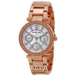 Michael Kors Ladies' Mini Parker Rose Gold Tone Chronograph Watch Mk5616