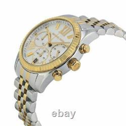 Michael Kors Lexington Two Tone Gold Silver Stainless Steel Women's Watch MK5955