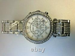 Michael Kors Parker Chronograph Crystal Glitz Silver Quartz Ladies Watch MK5572