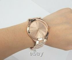 Michael Kors Watch MK3197 Slim Runway Rose-Gold Tone Case 42mm RRP$329