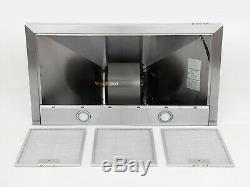 Modern 36'' Stainless Steel Range Hood Wall Mount Stove Vented Push Button LED