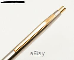 Montblanc Noblesse Push Ballpoint Pen in Stainless Steel Gold (No. 11228)