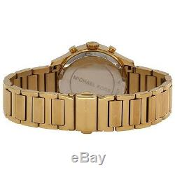 NEW Authentic Michael Kors Bailey Gold Pink Dial Chronograph Ladies Watch MK5909