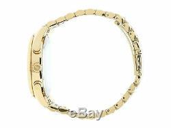NEW Authentic Michael Kors Lexington Gold-Tone Black Dial Men's Watch MK8286