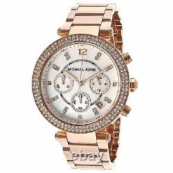 NEW Authentic Michael Kors Parker Chronograph Rose Gold-Tone Ladies Watch MK5491