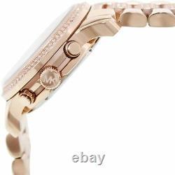 NEW Authentic Michael Kors Runway Rose-Tone & Crystal Ladies Watch MK 5827