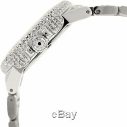NEW Michael Kors MK5869 Camille Silver Crystal Pave Quartz 43mm Ladies Watch