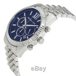 NEW Michael Kors MK8280 Lexington Chronograph Quartz Navy Blue Dial Mens Watch