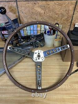 New 1967 Ford Mustang Deluxe Wood Steering Wheel Original Style
