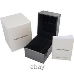 New Emporio Armani Ar2454 Black/grey Stainless Steel Chronograph Mens Watch