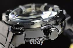 New Invicta Men's 52mm Bolt Open Heart Automatic Triple Black Bracelet SS Watch