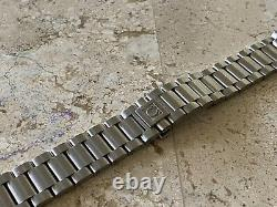 New Omega 20mm Seamaster Stainless Steel Push Button Bracelet Curved Ends Swiss