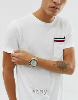 New Tommy Hilfiger Luke Th1791121 Gold/white Mens Watch New With Tags
