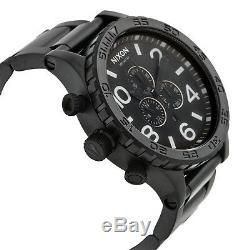 Nixon A083 001 51-30 Chrono All Black 51mm Extra Large Mens Quartz Analog Watch