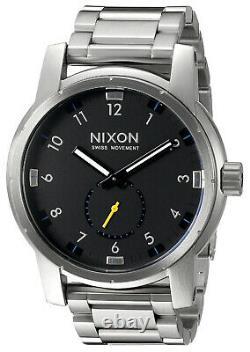 Nixon Men's 200WR 20atm SWISS QUARTZ A937000 Patriot Stainless Steel Watch