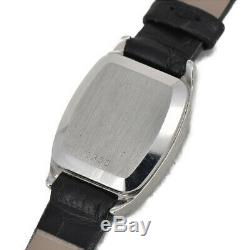 OMEGA Deville Push crown Stainless Steel/Leather Quartz Women's Watch P#93750