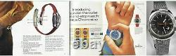 OMEGA Geneva Chronostop 145.010 Manual One Push Chronograph Watch for Drivers