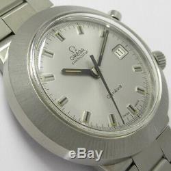 OMEGA Geneve One Push Chronograph Manual Winding Vintage Watch 1970's Overhauled